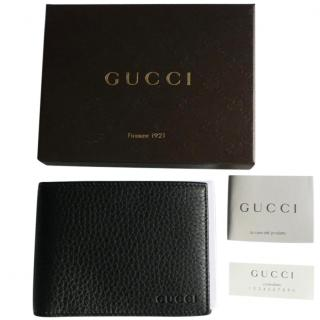 Gucci black leather  wallet new in box