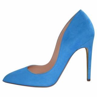 Rupert Sanderson Elba Azure/Blue Suede Hight Heel Pumps