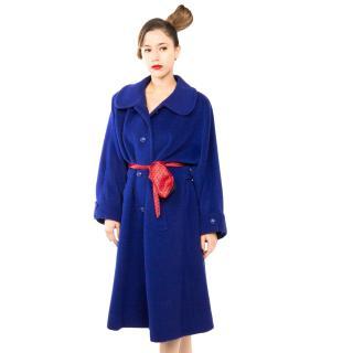 Vintage Yves Saint Laurent Royal Blue Coat. 100% Wool. Size M