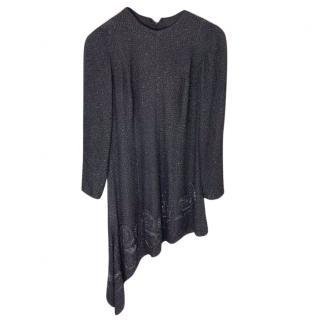Catherine Waker Beaded Black Dress