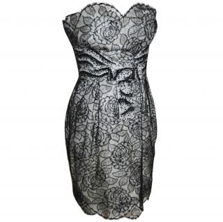 Christian Dior Runway Strapless Lace Beaded Dress