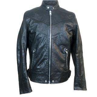 Diesel Superior Leather Cafe Racer Biker Jacket