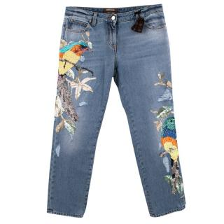 Roberto Cavalli Embroidered Jeans