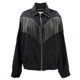 Saint Laurent Fringed Teddy Jacket