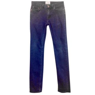 Acne ace blue black denim jeans