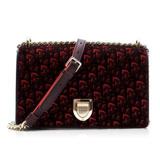 Dior Diorama Red Velvet Handbag
