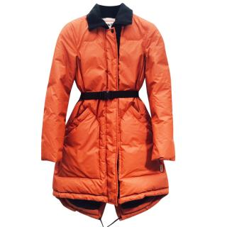 Hunter belted puffer coat