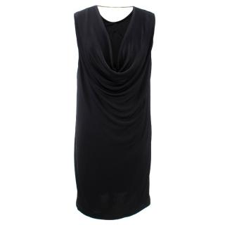 T by Alexander Wang Mini Black Dress w/ Silver Neck Detail