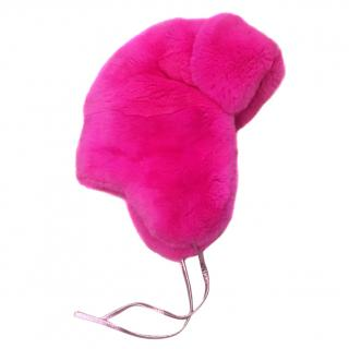 Hockley Pavo Pink Rex Rabbit Trapper Hat