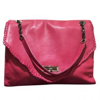 Pierre Balmain Dark Pink Leather Bag