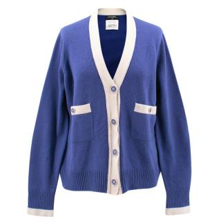 Chanel Blue and White cardigan