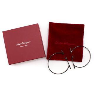 Salvatore Ferragamo Black Spike Earrings