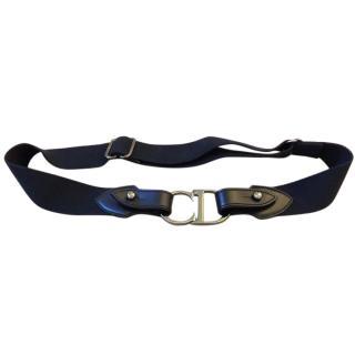 Dior adjustable black leather belt