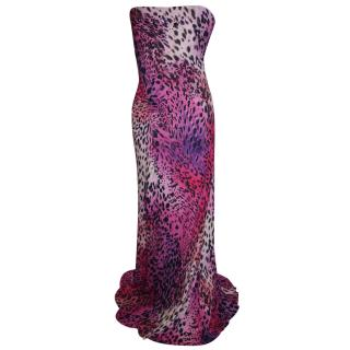 BLUMARINE Leopard print evening dress