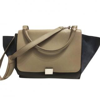 Celine Navy And Beige Trapeze Medium