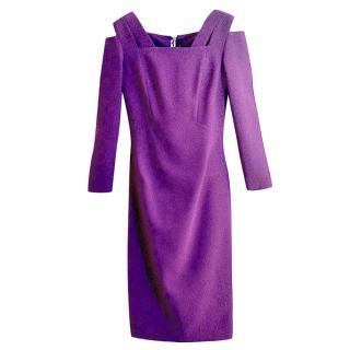 ROLAND MOURET Bodycon stretch crepe dress