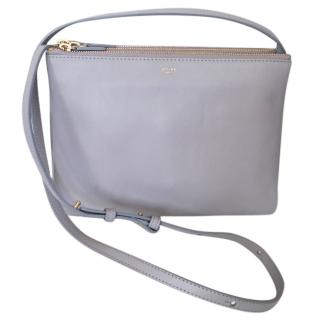 New CELINE TRIO large grey crossbody bag, RRP �780