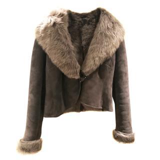 Ralph Lauren Grey Shearling Jacket