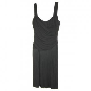 Michael Kors Runway Black Fringe Dress