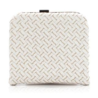 Bottega Veneta White Coin Wallet