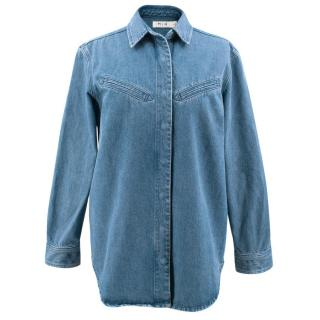 MIH JeansDenim Oversized Shirt / Jacket with Poppers