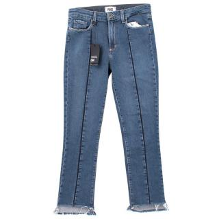 Paige Julia Uneven Hem Jeans