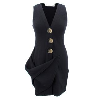 Victoria Beckham Wool Buttoned Dress