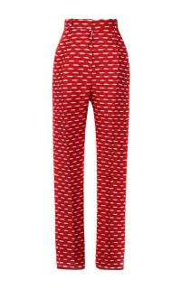 Jonathan Saunders Celeste Jacquard Trousers In Red