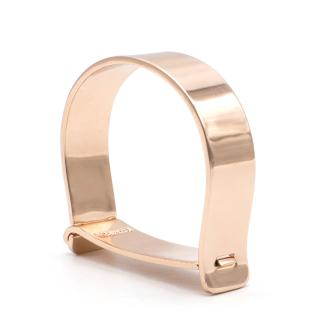 Minsai 18ct rose-gold plated screw cuff bracelet