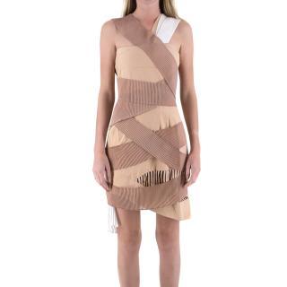 Emilio De La Morena Nude Frill Dress