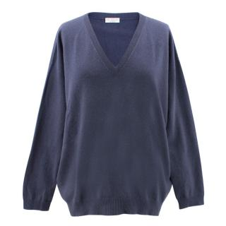 Brunello Cucinelli Navy Sweater