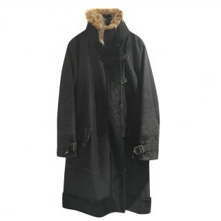 LOUIS VUITTON parka coat with coyote collar