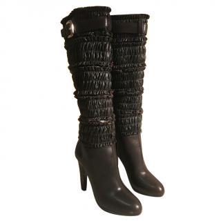 Miu Miu Dark Brown Calzature Donna Cal Rouge Boots