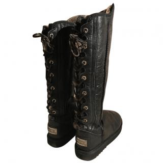 Australia Luxe Collective DIT201D Over the knee sheep skin boots