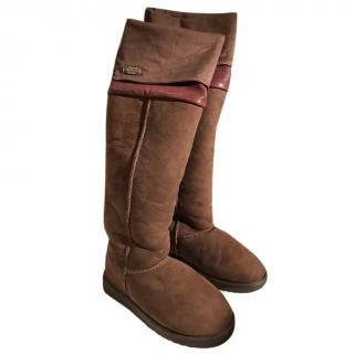 Australia Luxe Collective SSL201N Sheepskin Over The Knee Boots