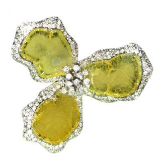 Sliced Yellow diamond ring