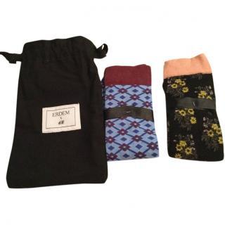 Erdem X H&M socks,pack of 2