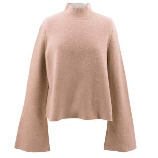 Proenza Schouler Camel Flared Sleeve Turtleneck