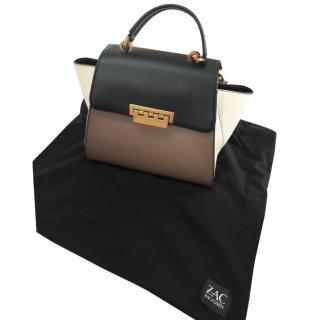 Zac Posen Eartha Cream and Black Bag