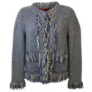 Carolina Herrera Fringed Edges Woven Jacket