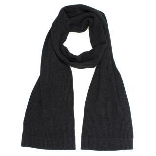 Dolce & Gabbana Dark Grey Wool  Scarf