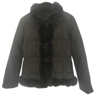 Maxmara Padded Coat with Lapin Trim