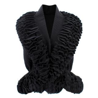 Azzedine Alaia open wool jacket