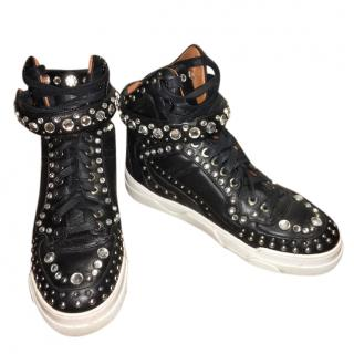 Givenchy high top Sneakers with Rhinestones