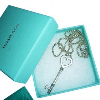 Tiffany & Co. Keys Heart Key Charm Necklace