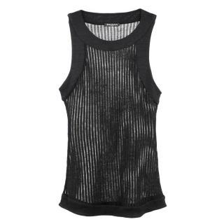 Balmain Linen Mesh Panelled Black Top