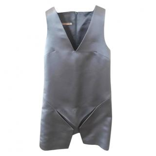 Christopher Kane Silk Grey Mini Dress