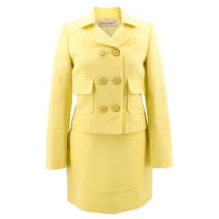 Emilio Pucci Citron Double Breasted Blazer and Skirt Suit