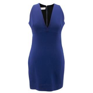 Victoria Beckham Fitted Blue Dress