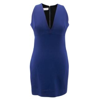 Victoria Beckham Fitted Blue Dress